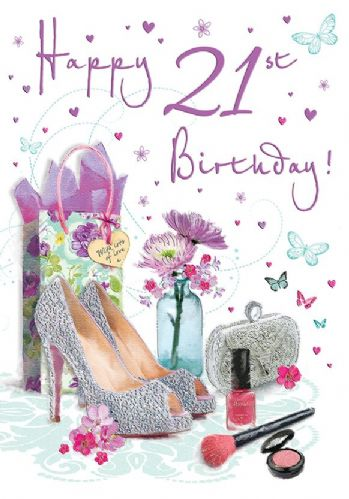 Happy 21st Birthday Shoes / Make Up C75
